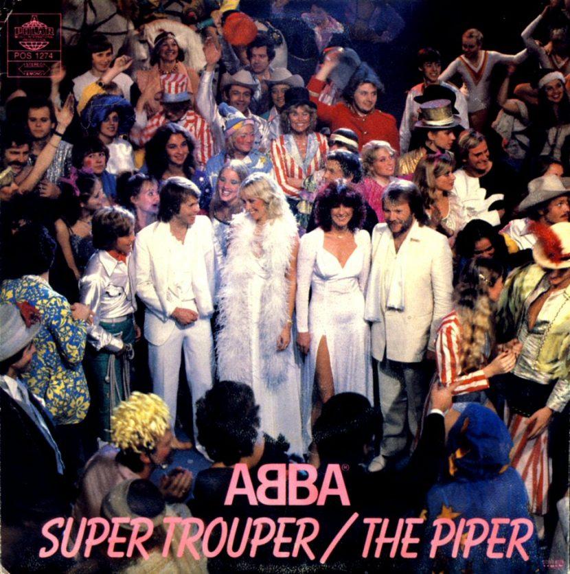 Abba: Super Trouper & The Piper, SINGLE VINILO 45 RPM