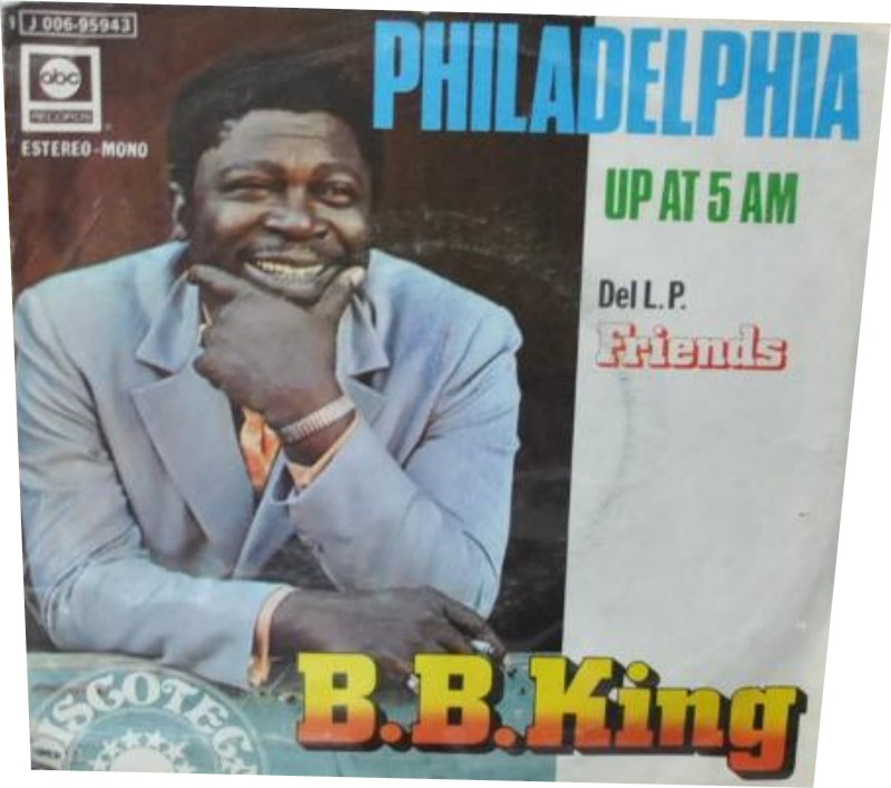 B.B. King - Philadelphia. Single vinilo 45 rpm