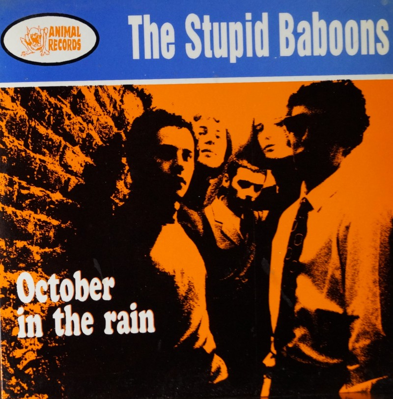 The Stupid Baboons - October in the Rain. E.P. Single Vinilo 45 rpm