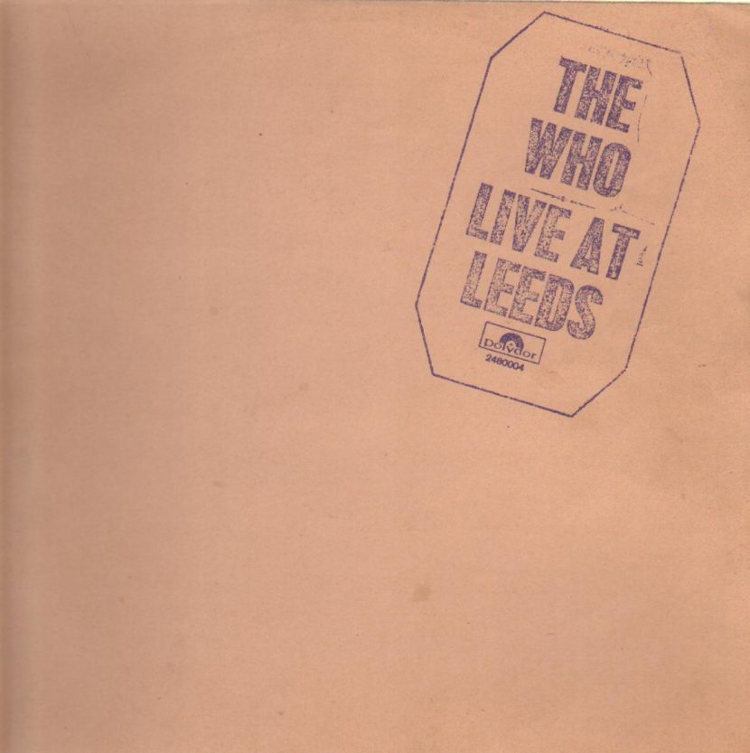 The Who - Live at Leeds. Albúm Vinilo 33 rpm